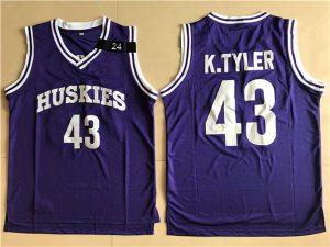 2017 NBA Huskies movie 43 K.TYLER purple jersey