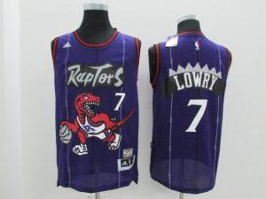 2017 NBA Toronto Raptors 7 Kyle Lowry Purple Jerseys