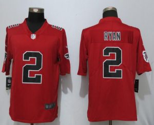 2017 New Nike Atlanta Falcons 2 Ryan Red Color Rush Limited Jersey