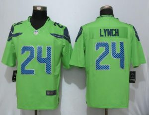 2017 Nike Seattle Seahawks 24 Lynch Green Color Rush Limited Jersey