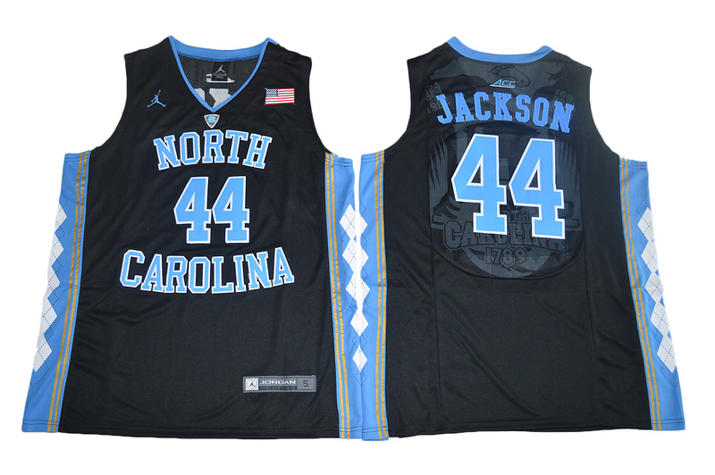 2017 North Carolina Tar Heels Justin Jackson 44 College Basketball Jersey - Black