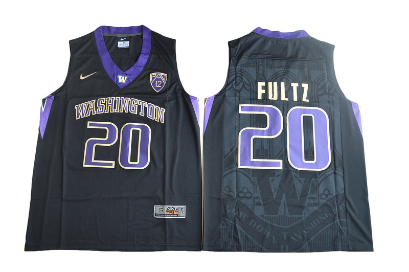 2017 Washington Huskies Markelle Fultz 20 College Basketball Jersey - Black