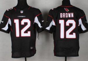 Arizona Cardicals 12 Brown Black Nike Elite jerseys