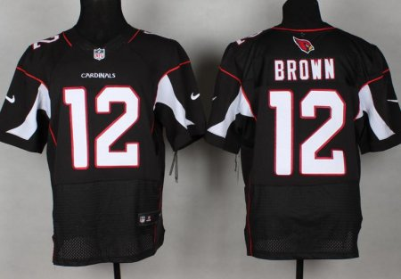 Arizona Cardicals 12 Brown Black Nike Elite jerseys