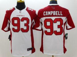 Arizona Cardicals 93 Campbell White Nike Limited Jerseys