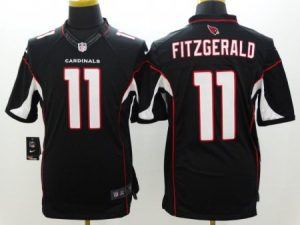 Arizona Cardinals 11 Fitzgerald Black Nike Limited Jerseys