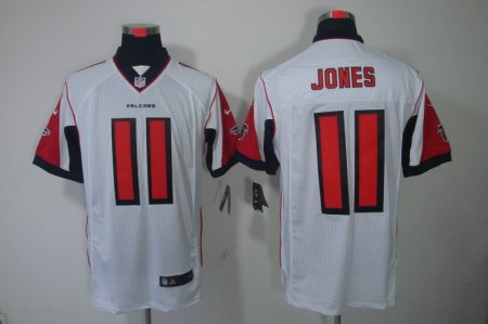 Atlanta Falcons 11 Jones White Nike Elite Jerseys