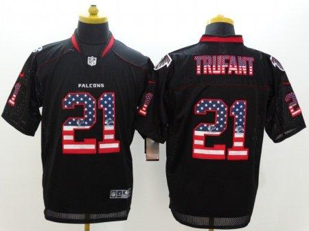 Atlanta Falcons 21 Trufant Black Nike USA Flag Fashion Elite Jerseys