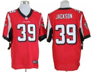 Atlanta Falcons 39 Jackson Red Nike Game Jerseys