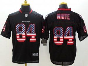 Atlanta Falcons 84 White Black Nike USA Flag Fashion Elite Jerseys