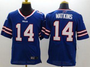 Buffalo Bills 14 Watkins Blue Nike Elite Jerseys