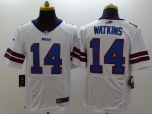 Buffalo Bills 14 Watkins White Nike Elite Jerseys