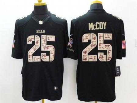 Buffalo Bills 25 McCoy Black Nike Salute TO Service Jerseys