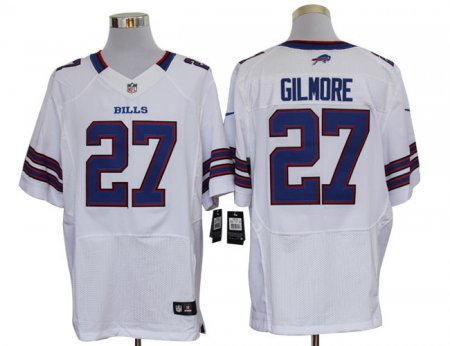 Buffalo Bills 27 Gilmore White Nike Elite Jerseys