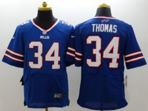 Buffalo Bills 34 Thomas Blue Nike Elite Jerseys