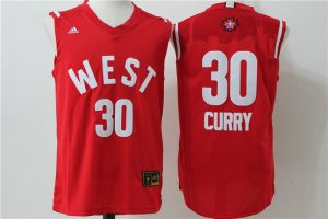 Golden State Warriors 30 Curry Red 2016 NBA All Star jerseys