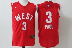 Los Angeles Clippers 3 Paul Red 2016 NBA All Star jerseys
