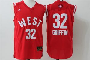 Los Angeles Clippers 32 Griffin Red 2016 NBA All Star jerseys