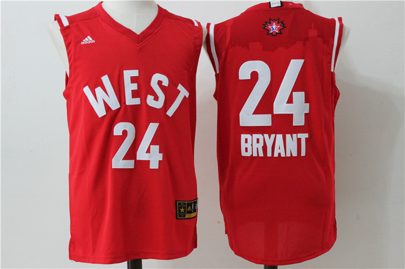 Los Angeles Lakers 24 Bryant Red 2016 NBA All Star jerseys