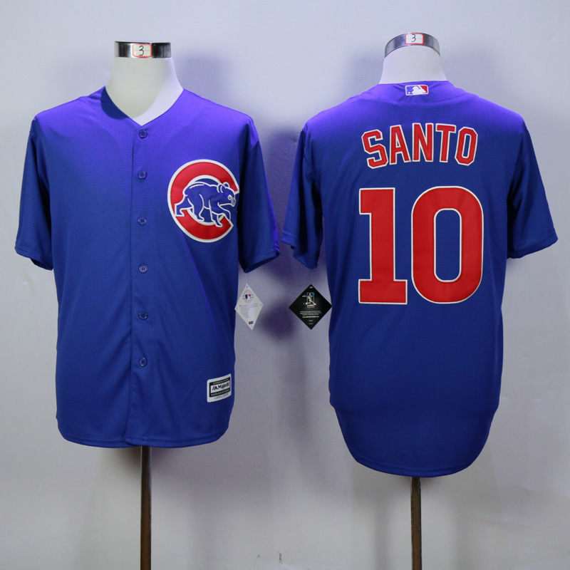 MLB Chicago Cubs 10 Santo Blue 2015 jerseys