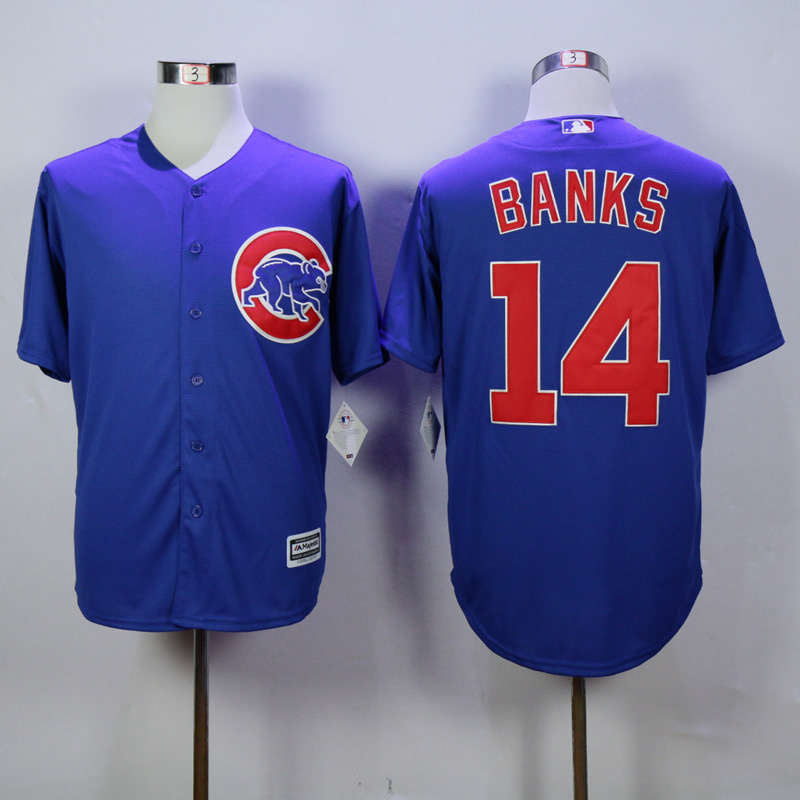 MLB Chicago Cubs 14 Banks Blue 2015 jerseys