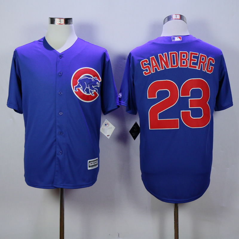 MLB Chicago Cubs 23 ryne sandberg Blue 2015 jerseys