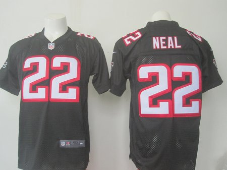 Men Atlanta Falcons 22 Neal Nike black 2016 Draft Pick Elite Jersey