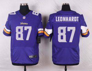 Minnesota Vikings 87 Leonhardt Purple 2016 Nike Elite Jerseys