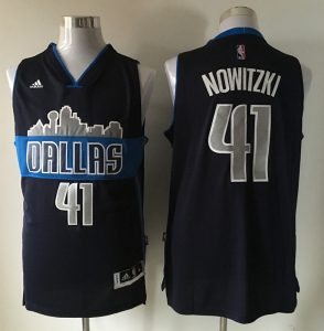 NBA Dallas Mavericks 41 nowitzki black the city 2016 jerseys