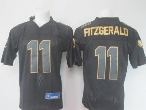 NFL Arizona Cardinals 11 Fitzgerald Black golden Elite Nike 2016 jerseys