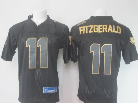 NFL Arizona Cardinals 11 Fitzgerald Black golden Elite Nike 2016 jerseys