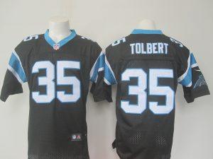 NFL Carolina Panthers 35 Tolbert Black 2016 Nike Elite Jerseys