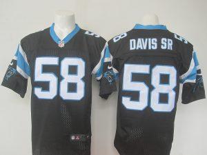 NFL Carolina Panthers 58 Davis Sr Black nike 2016 jerseys