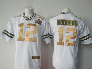 NFL Green Bay Packers 12 Rodgers white 50th Nike 2016 jerseys