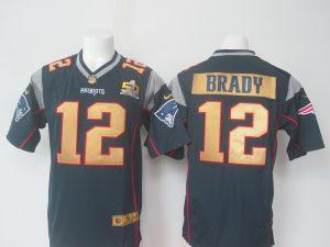 NFL New England Patriots 12 Brady Blue 50th nike 2016 Jerseys