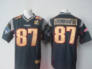 NFL New England Patriots 87 Gronkowski blue 50th Nike 2016 jerseys
