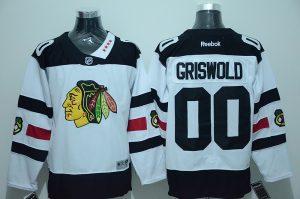 NHL Chicago Blackhawks 00 Clark Griswold White 2016 Jersey