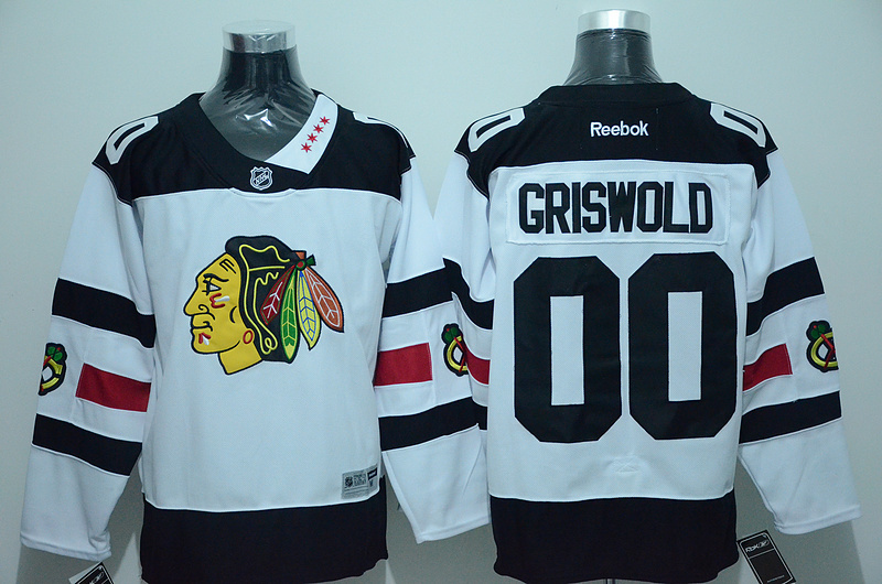 NHL Chicago Blackhawks 00 Clark Griswold White 2016 Jersey