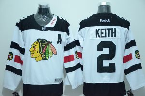 NHL Chicago Blackhawks 2 Keith White 2016 Jersey