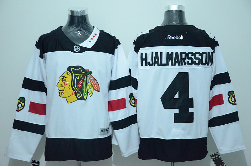 NHL Chicago Blackhawks 4 Hjalmarsson White 2016 Jersey