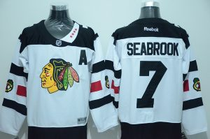 NHL Chicago Blackhawks 7 Seabrook White 2016 Jersey