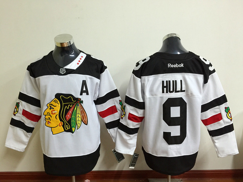 NHL Chicago Blackhawks 9 Hull White 2016 Jersey