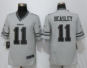 Nike Dallas Cowboys 11 Beasley Nike Gridiron Gray II Limited Jersey
