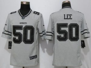 Nike Dallas Cowboys 50 Lee Nike Gridiron Gray II Limited Jersey