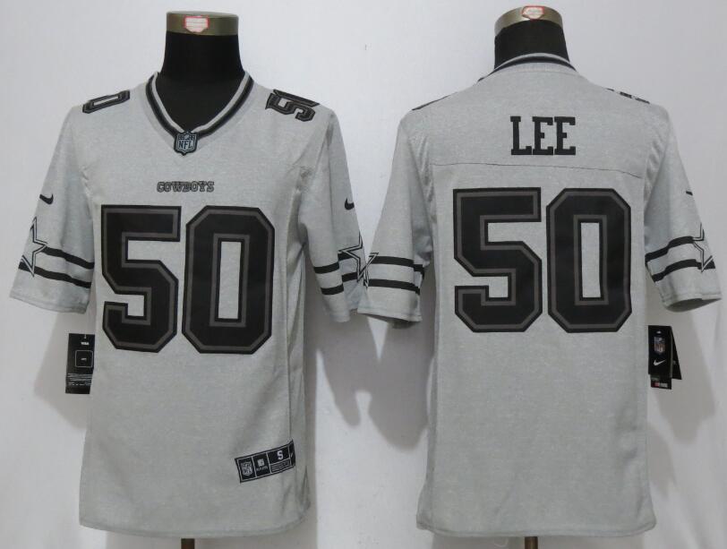 Nike Dallas Cowboys 50 Lee Nike Gridiron Gray II Limited Jersey