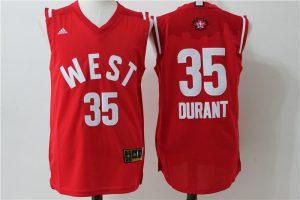 Oklahoma City Thunder 35 Durant Red 2016 NBA All Star jerseys
