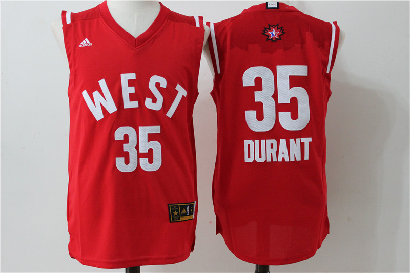 Oklahoma City Thunder 35 Durant Red 2016 NBA All Star jerseys