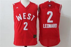 San Antonio Spurs 2 Leonard Red 2016 NBA All Star jerseys
