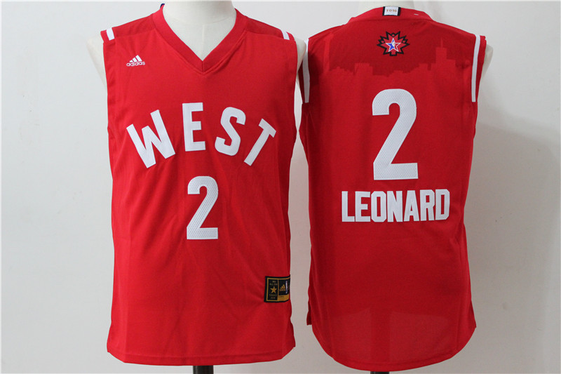 San Antonio Spurs 2 Leonard Red 2016 NBA All Star jerseys