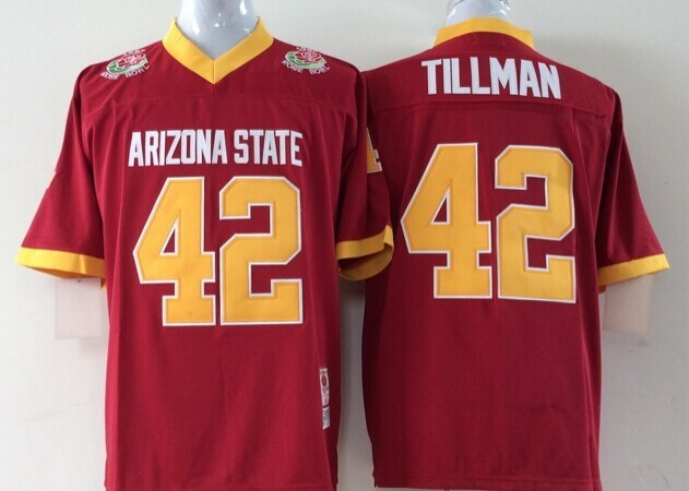Youth 2016 NCAA Arizona State Sun Devils 42 Tillman Red Jerseys
